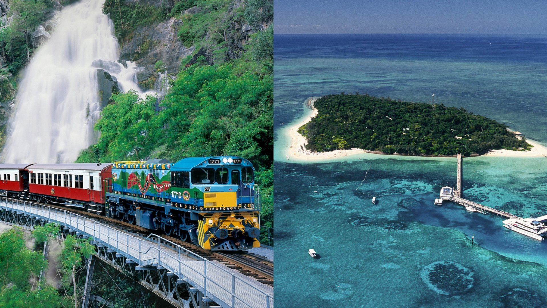 Kuranda (Skyrail & Train) + Green Island – 2 Day Package