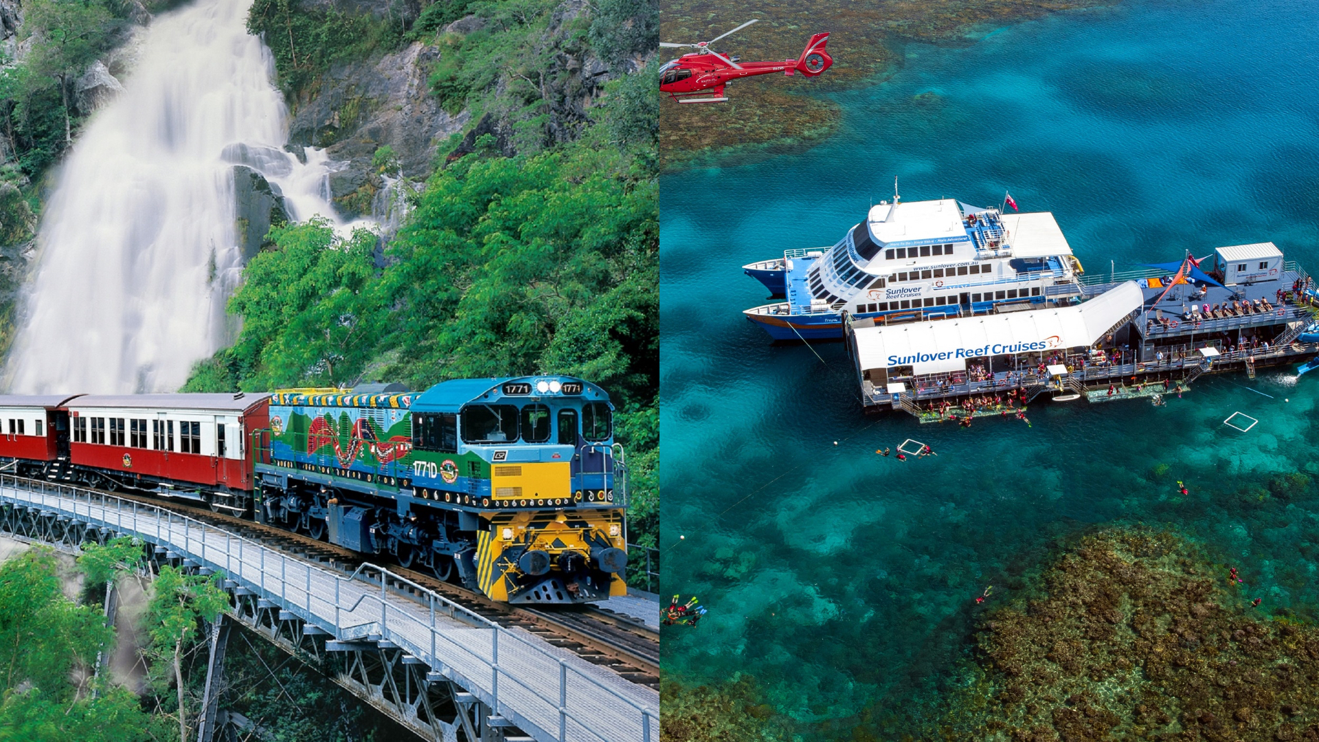 Kuranda (Skyrail & Train) + Sunlover Moore Reef – 2 Day Package