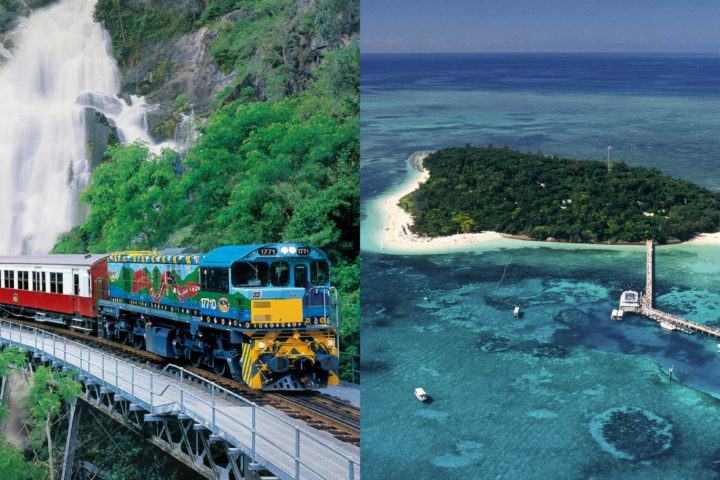Kuranda (Skyrail & Train) + Green Island - 2 Day Package