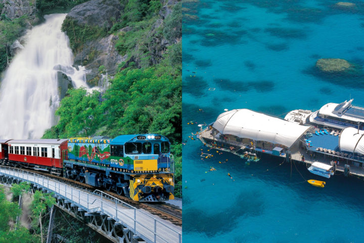 Kuranda (Skyrail & Train) + Green Island and Great Barrier Reef - 2 Day Package