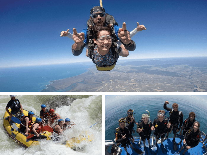 DrTours Skydiving (15,000ft) + Tully Rafting + Sea Quest